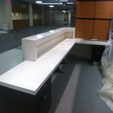 ZODIAQ RECEPTION DESK BACK